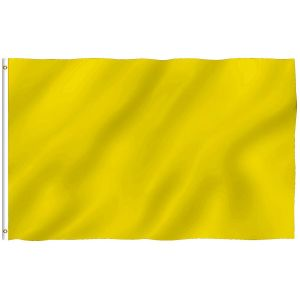 Plain Yellow Flags Polyester with Brass Grommets 2 X 3 Ft