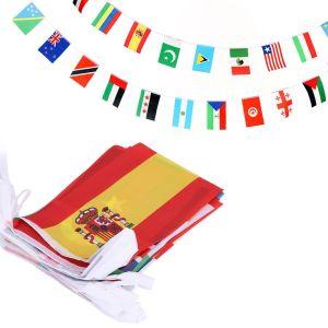 100 Countries String Flag - 82 Feet