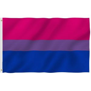 Bi Pride Flag - Bisexual Flags Polyester with Brass Grommets 3 X 5 Ft