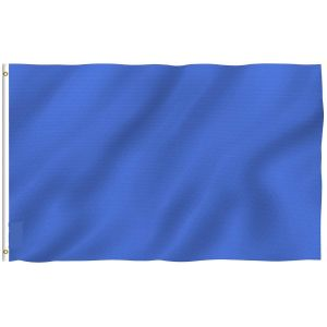 Plain Navy Blue Flags Polyester with Brass Grommets 2 X 3 Ft