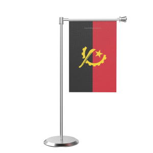 L Shape Table Angola Table Flag With Stainless Steel Base And Pole