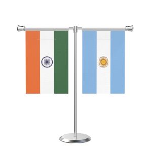 Argentina T shaped Table Flag with Stainless Steel Base and Pole