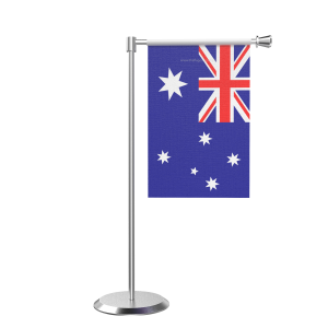 L Shape Table Australia Table Flag With Stainless Steel Base And Pole