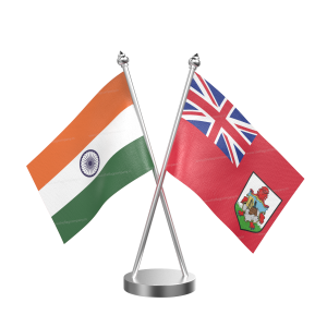 Bermuda Table Flag With Stainless Steel Base And Pole