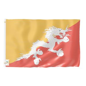Bhutan National Flag - Outdoor Flag 3' X 4.5'