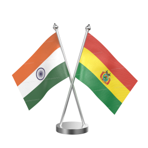 Bolivia Table Flag With Stainless Steel Base And Pole
