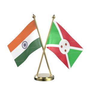 Burundi Table Flag With Brass Base And Brass Pole