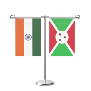 Burundi T shaped Table Flag with Stainless Steel Base and Pole