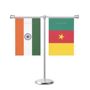 Camroon T shaped Table Flag with Stainless Steel Base and Pole