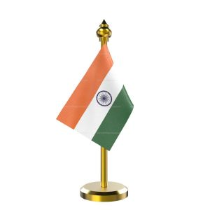 Indian Flag Stand for Car Dashboard – Single Brass