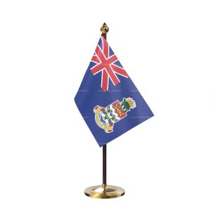 Cayman island Table Flag With Golden Base And Plastic pole