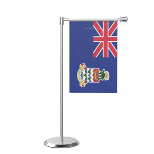 L Shape Table Cayman Islands Table Flag With Stainless Steel Base And Pole