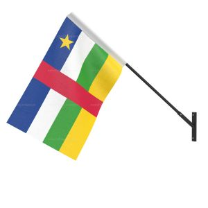 Central African Rep National Flag - Wall Mounted