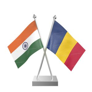 Chad Table Flag With Stainless Steel Square Base And Pole