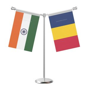 Y Shaped Chad Table Flag with Stainless Steel Base and Pole