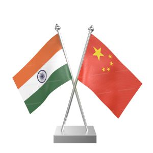 China Table Flag With Stainless Steel Square Base And Pole