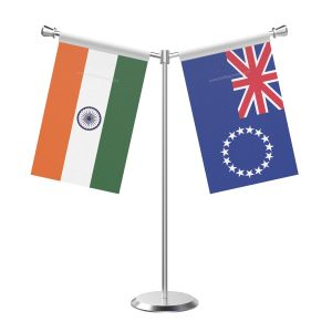 Y Shaped Cool islandsn Table Flag with Stainless Steel Base and Pole