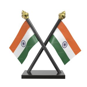 Indian Flag Stand For Car Dashboard – Cross Plastic