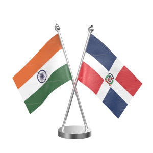 Domicia Repn Table Flag With Stainless Steel Base And Pole