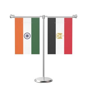 Egypt T Shaped Table Flag with Stainless Steel Base and Pole