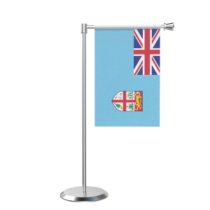L Shape Table Fiji Table Flag With Stainless Steel Base And Pole