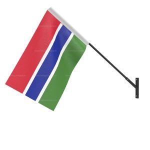 Gambia National Flag - Wall Mounted