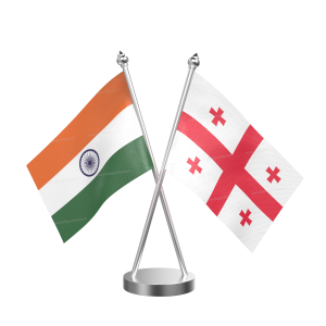 Georgia Table Flag With Stainless Steel Base And Pole