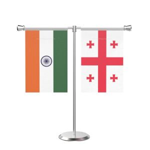 Georgia T Shaped Table Flag with Stainless Steel Base and Pole