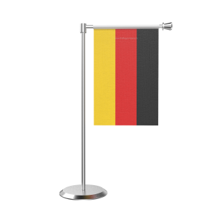 L Shape Table Germany Table Flag With Stainless Steel Base And Pole