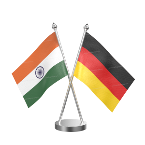 Germany Table Flag With Stainless Steel Base and Pole