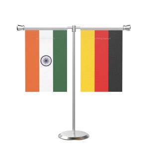 Germany T Shaped Table Flag with Stainless Steel Base and Pole