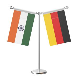 Y Shaped Germany Table Flag with Stainless Steel Base and Pole