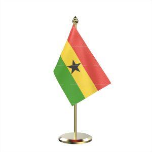 Single Ghana Table Flag With Brass Base And Brass Pole