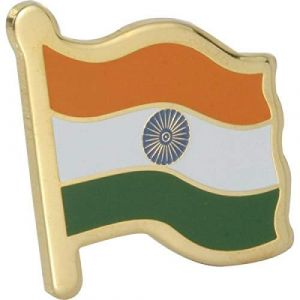 Indian Flag Brass Laminated Lapel Pin