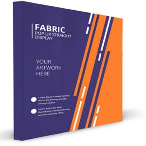 Fabric Velcro Pop Up Straight