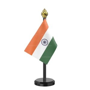 Indian Flag Stand For Car Dashboard  – Single Plastic