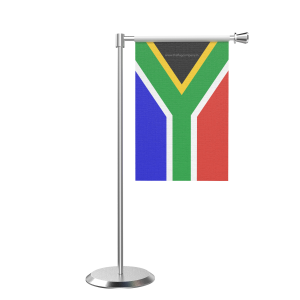 L Shape Table South Africa Table Flag With Stainless Steel Base And Pole