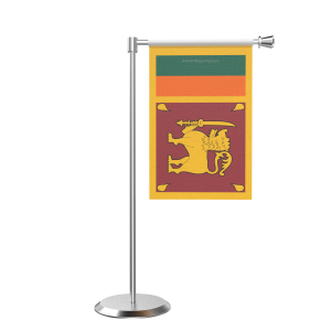 L Shape Table Sri Lanka Table Flag With Stainless Steel Base And Pole
