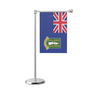 L Shape Table Virgin Islands Table Flag With Stainless Steel Base And Pole