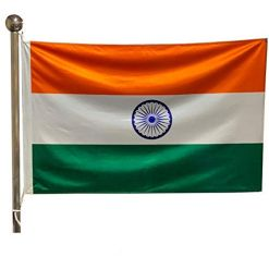 Indian National Flag - Outdoor Flag 6' X9'